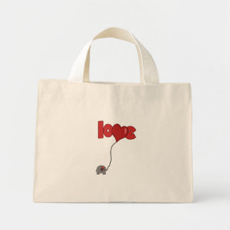 Elephant Balloon Mini Tote Bag