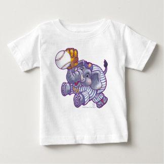 Elephant Baseball Star Baby T-Shirt
