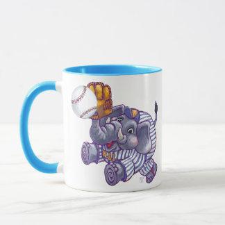 Elephant Baseball Star Mug