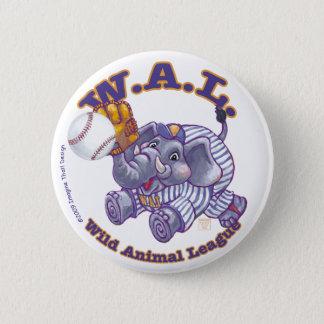 Elephant Baseball Star Pinback Button
