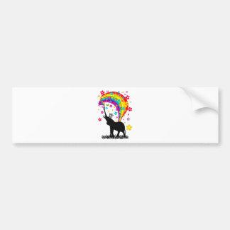 Elephant_Bathing Bumper Sticker