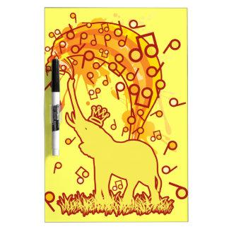 Elephant_Bathing Dry Erase Board