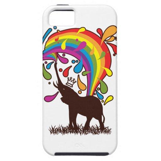 Elephant_Bathing iPhone 5 Cover