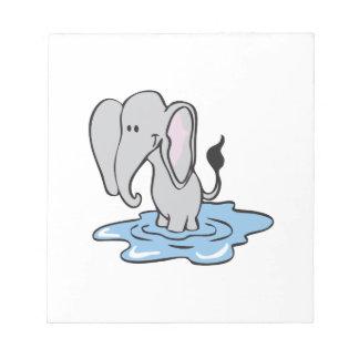 Elephant Bathing Memo Note Pads