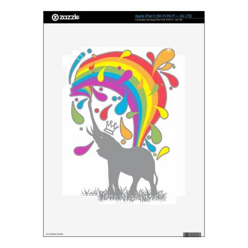 Elephant_Bathing Pegatina Skin Para iPad 3