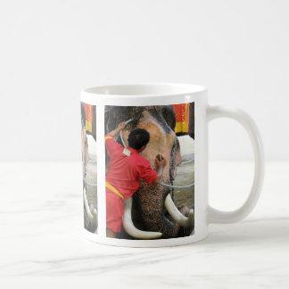 Elephant Bathtime ... Ayutthaya, Thailand Coffee Mugs