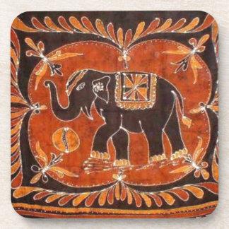 Elephant Batik Beverage Coaster