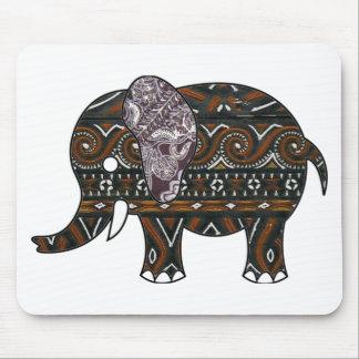 elephant batik graphic art mouse pad