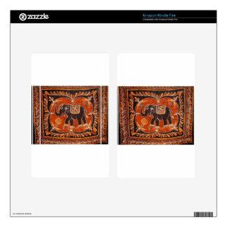 Elephant Batik Kindle Fire Skin