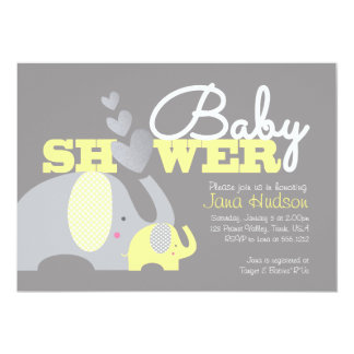 Elephant Bay Shower Invitation