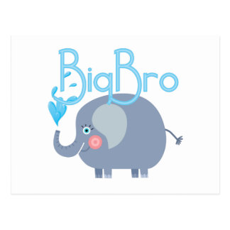 Elephant Big Bro Postcard