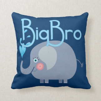Elephant Big Bro Throw Pillow