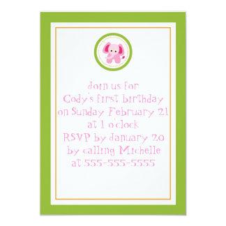 Elephant Birthday Card Personalized Invite