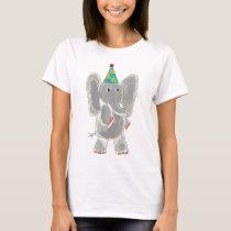 Elephant Birthday Hat T-Shirt