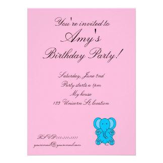Elephant birthday invitation