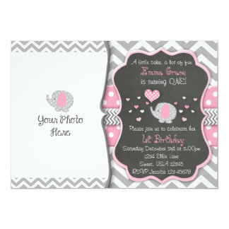 Elephant Birthday Invitation| Chalkboard Invite