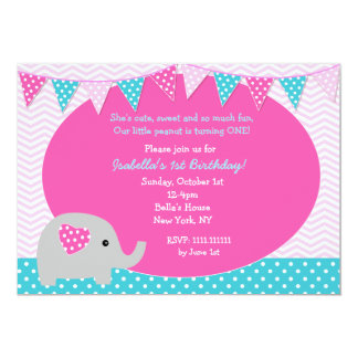 elephant birthday invitations