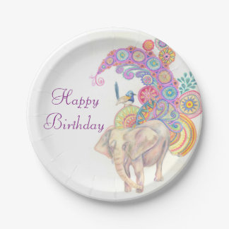elephant birthday party plates
