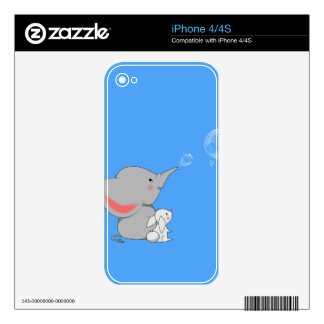 Elephant blowing bobbles decal for the iPhone 4