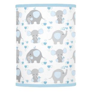 Elephant lamp shades zazzle elephant blue gray safari animals nursery baby boy lamp shade aloadofball Images