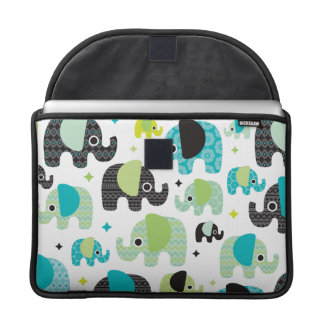 Elephant blue green aztec macbook sleeve sleeve for MacBooks