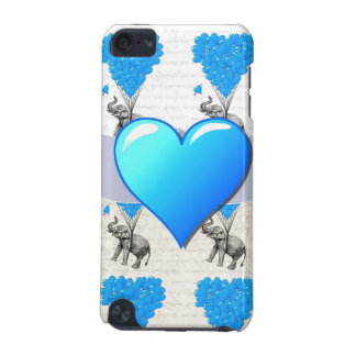 Elephant & blue heart balloons iPod touch 5G cover