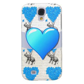 Elephant & blue heart balloons samsung galaxy s4 cover