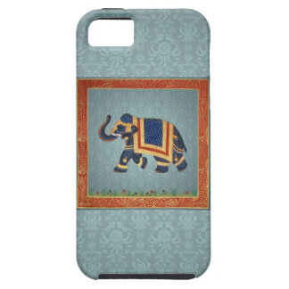 Elephant - blue red gold print Case-Mate iPhone iPhone 5 Case