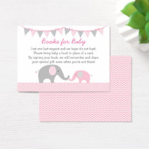 Elephant Book Request Cards Pink & Grey