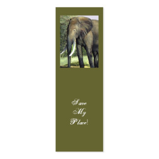 Elephant bookmark Save My Place Business Card Templates