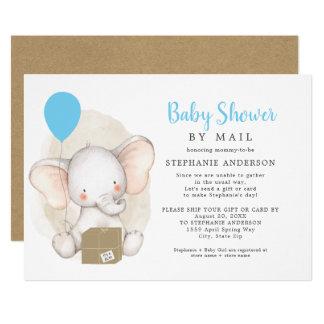 Elephant Boy Baby Shower by Mail Invitation