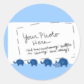 elephant-boy classic round sticker