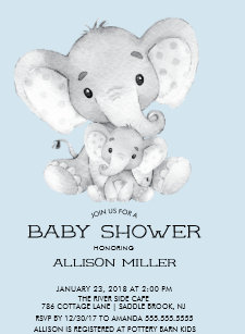 Elephant Baby Shower Invitations Zazzle