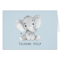 Elephant Boys Baby Shower Thank You Note