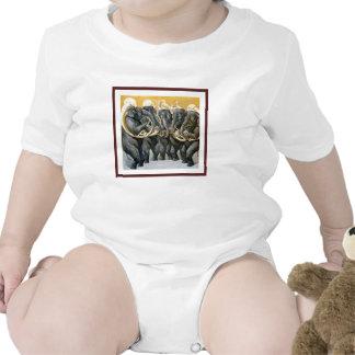 Elephant Brass Band Baby Bodysuit