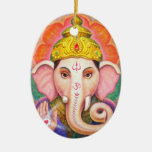 Elephant Buddha Art Ganesha Christmas Ornament