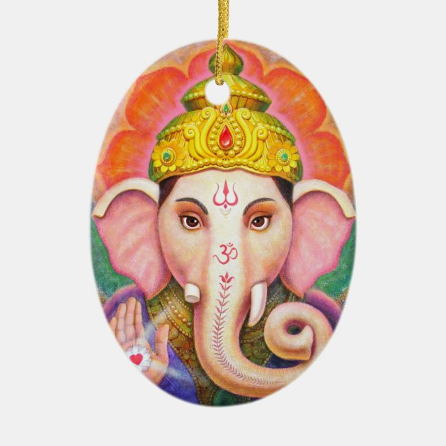 Elephant Buddha Art Ganesha Christmas Ornament | Zazzle.com
