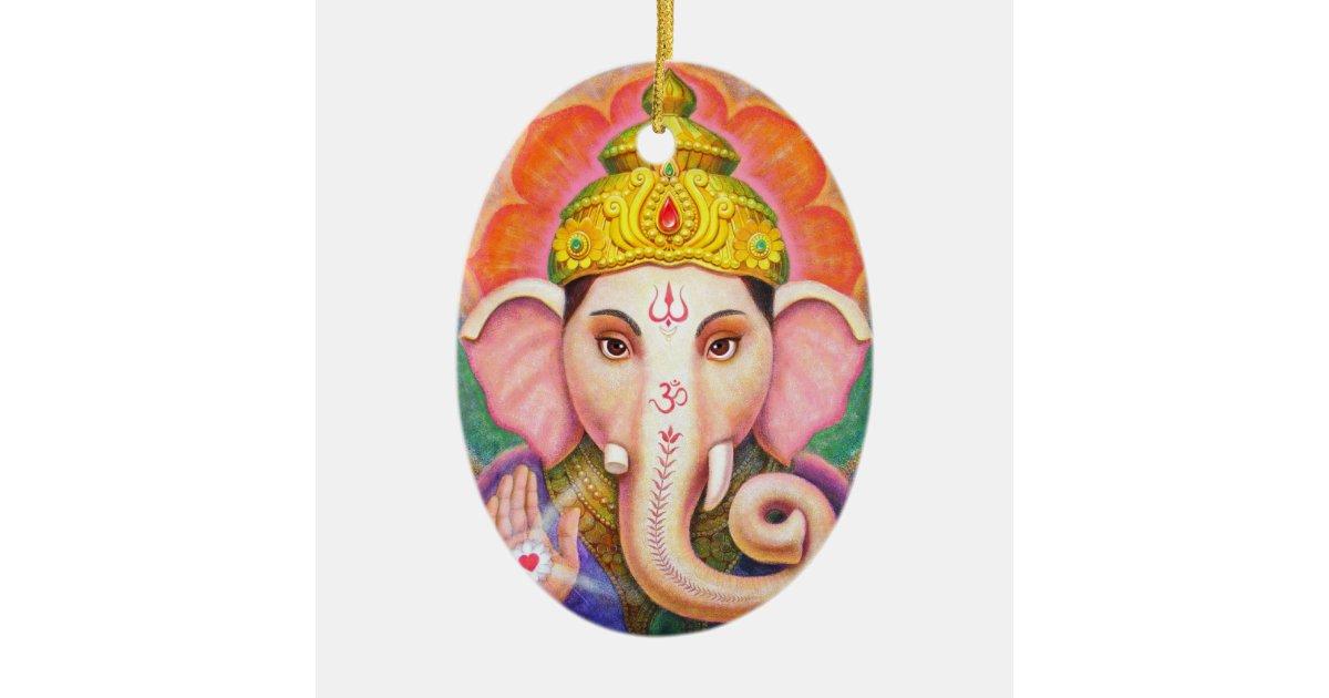 Elephant Buddha Art Ganesha Christmas Ornament Zazzle