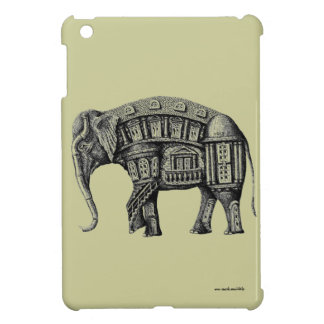 Elephant Building pen ink drawing Cover For The iPad Mini