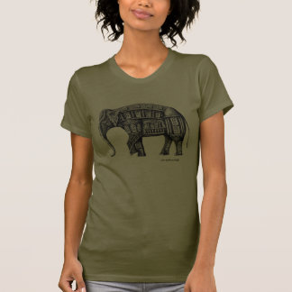 Elephant Building pen ink drawing Shirt
