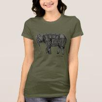 Elephant Building pen ink drawing T-Shirt