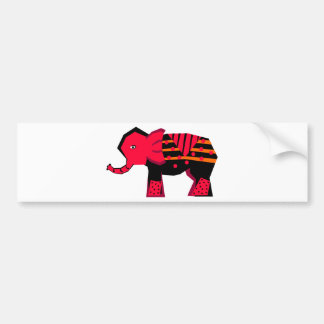 Elephant Car Bumper Sticker