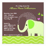 Elephant & Butterflies Baby Shower Invites