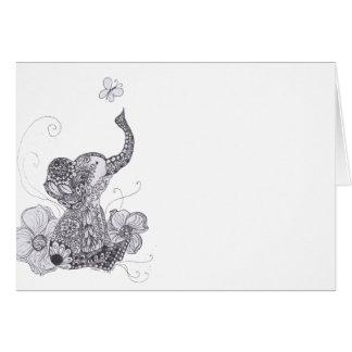 Elephant Butterfly Card