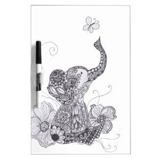 Elephant Butterfly Dry Erase Board