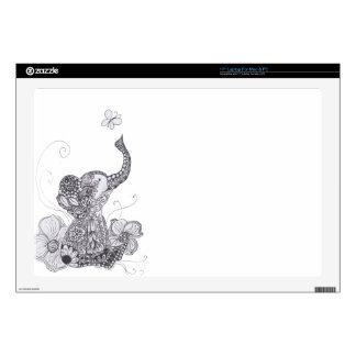 Elephant Butterfly Laptop Skin