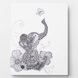 Elephant Butterfly Plaque