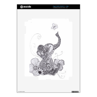 Elephant Butterfly Skin For The iPad 2
