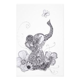 Elephant Butterfly Stationery