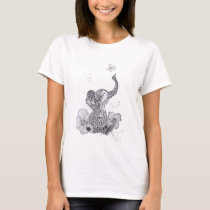 Elephant Butterfly T-Shirt